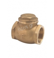 Brass-spring-check-valve, BSP double female threaded